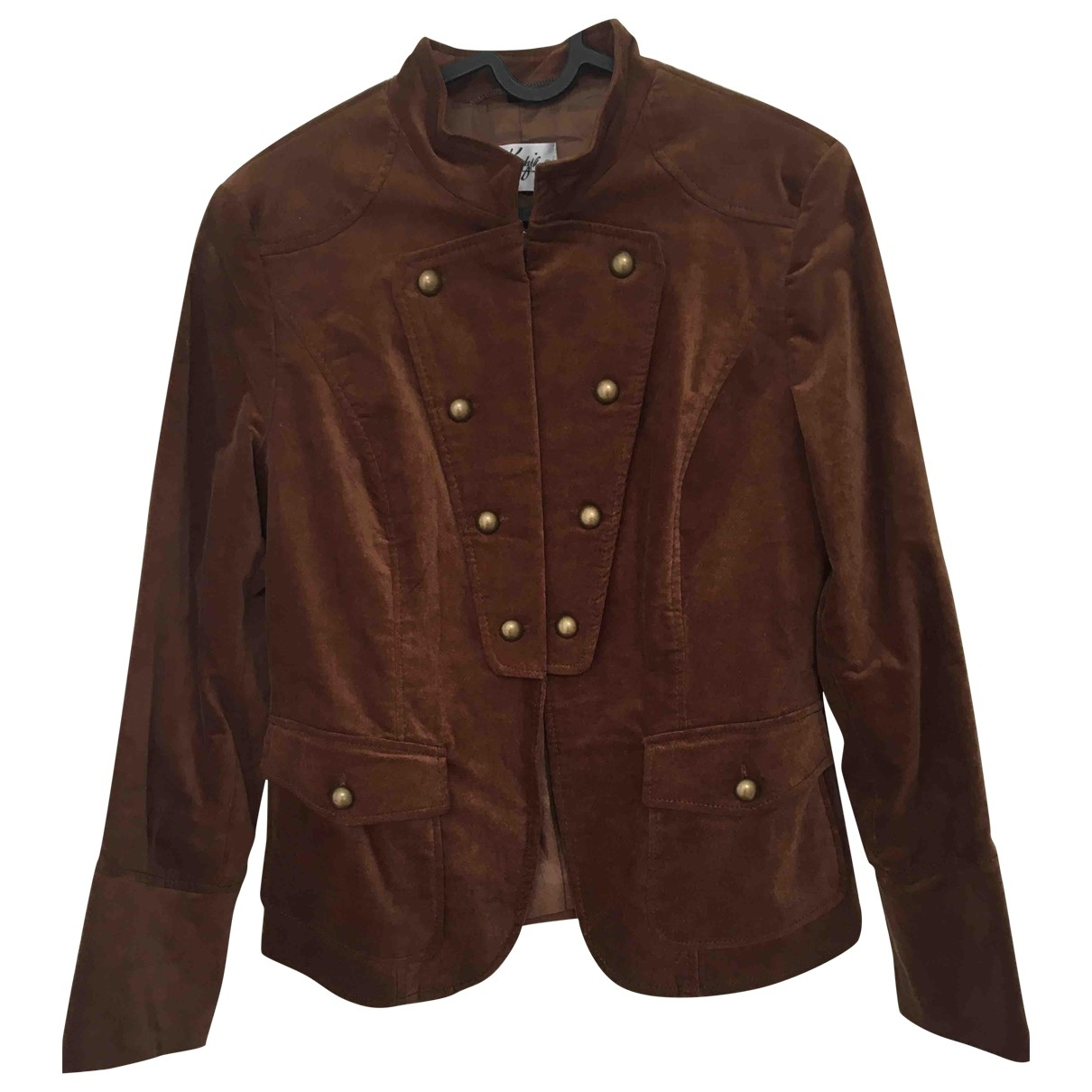 Non Signé / Unsigned \N Brown Velvet jacket for Women M International