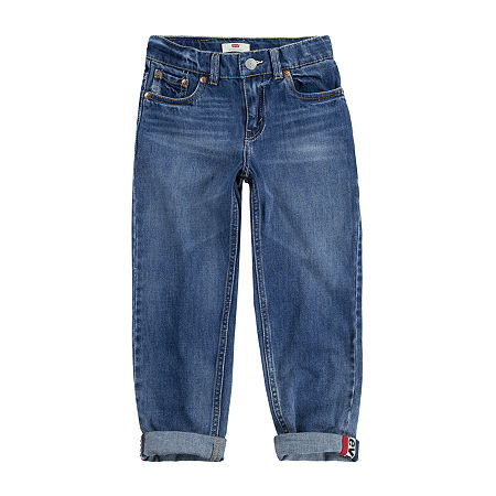 Levi's Made For Your Sneaker Big Boys 502 Slim Fit Jean, 20 , Blue
