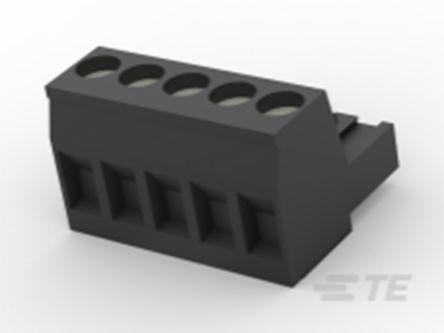 TE Connectivity , TB 5mm Pitch, 5 Way PCB Terminal Block, Black (100)