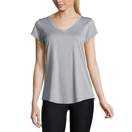 Xersion Short Sleeve Performance Tee - Tall, Small Tall , Gray
