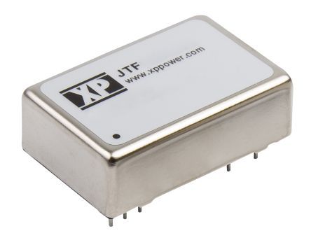 XP Power JTF 15W Isolated DC-DC Converter Through Hole, Voltage in 18 → 75 V dc, Voltage out 12V dc
