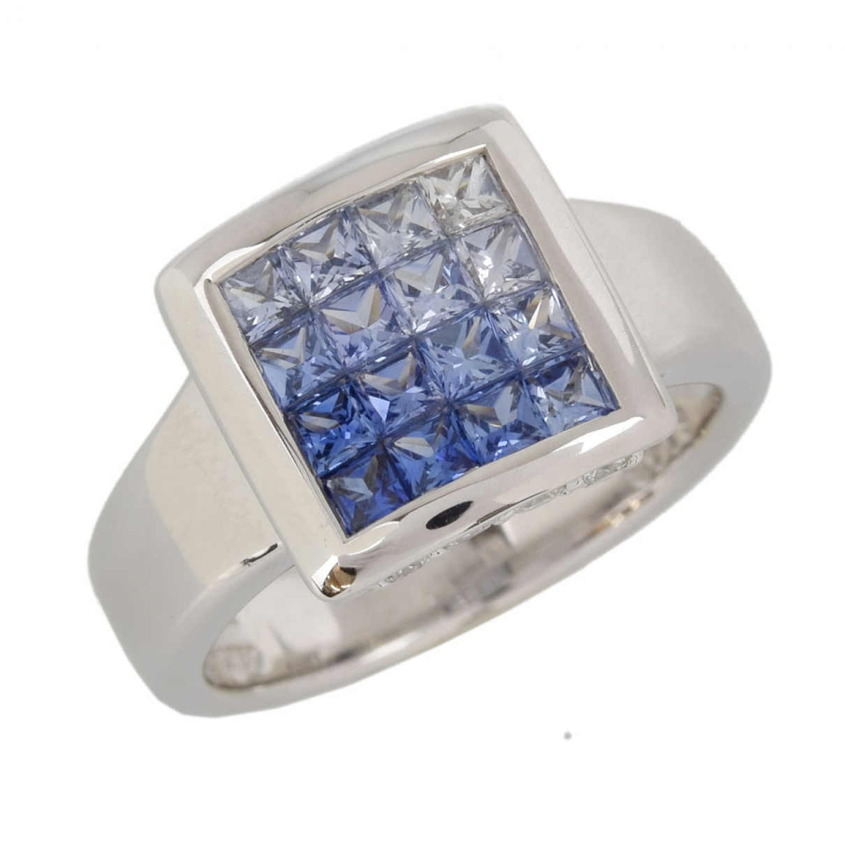 June 7.2 \N Blue White gold ring for Women 54 EU