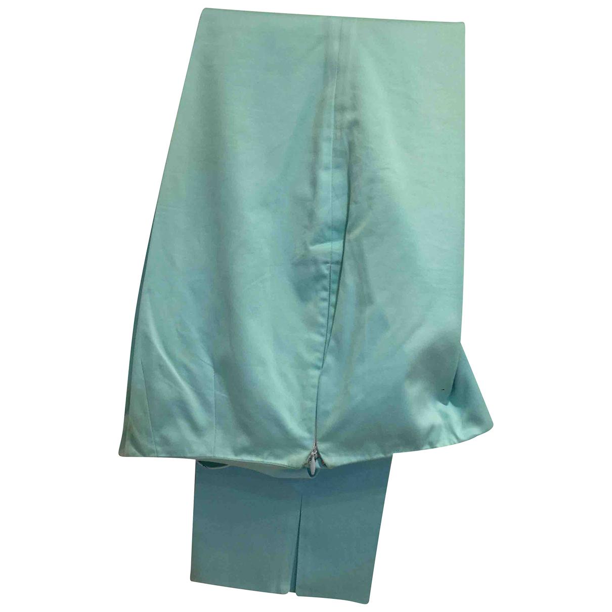 Emilio Pucci - Pantalon   pour femme en coton - turquoise