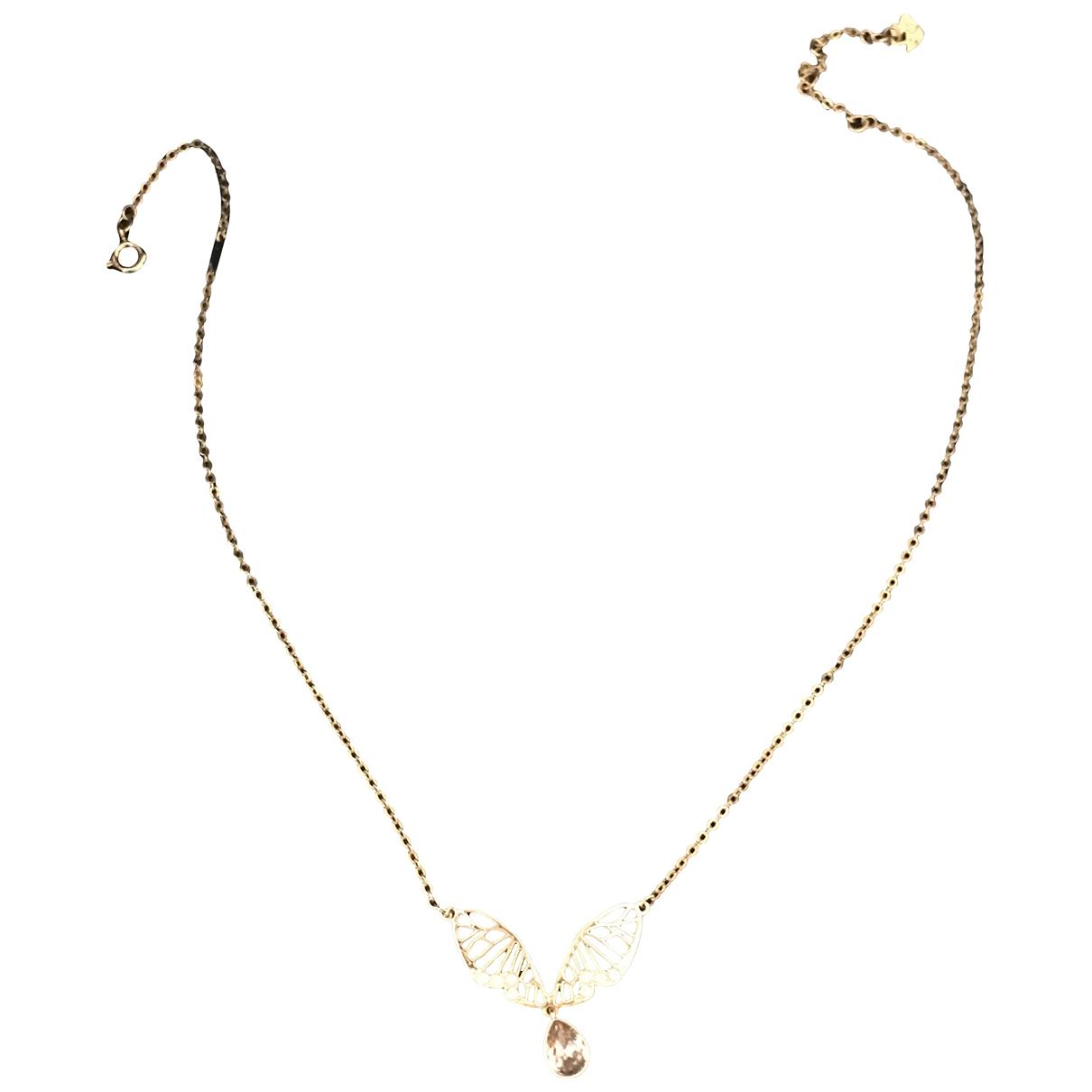 Swarovski \N Halskette in  Gold Kristall
