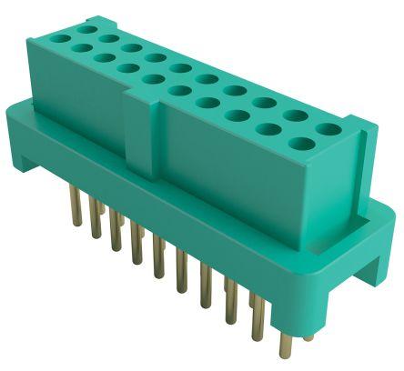 HARWIN , Gecko 1.25mm Pitch 10 Way 2 Row Straight PCB Socket, Through Hole, Solder Termination