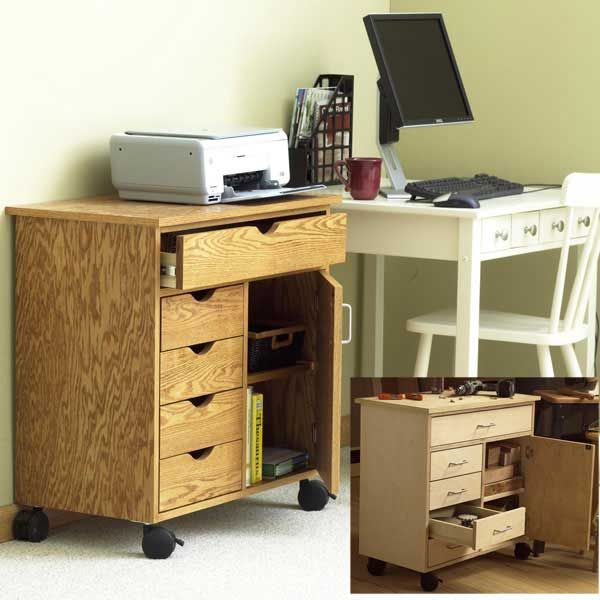 Woodworking Project Paper Plan to Build Home/Shop Storage Cart