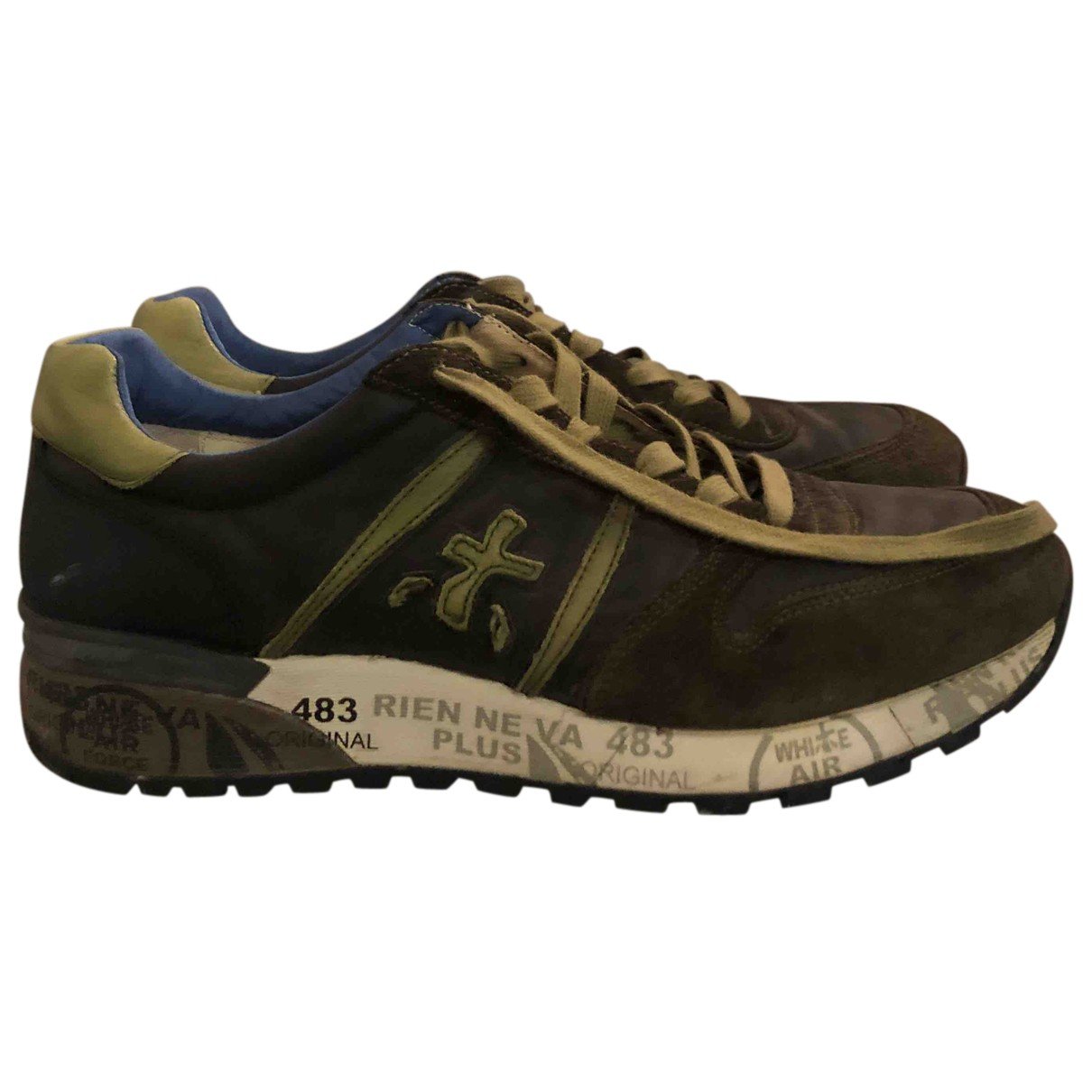Premiata N Green Leather Trainers for Men 42 IT