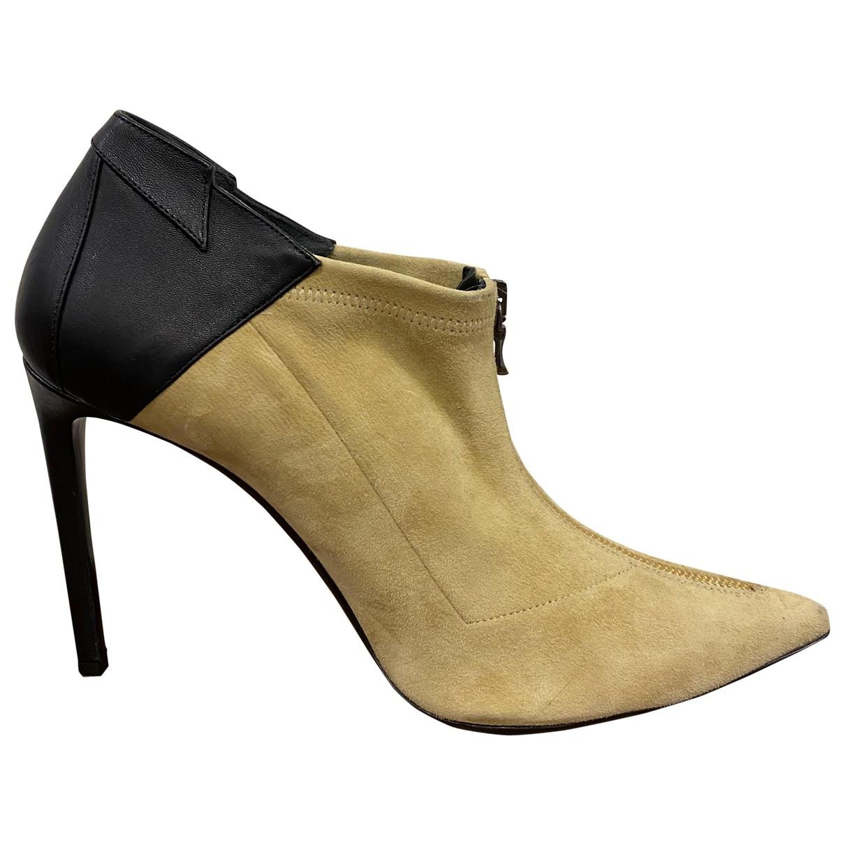 Roland Mouret - Boots   pour femme en suede - beige