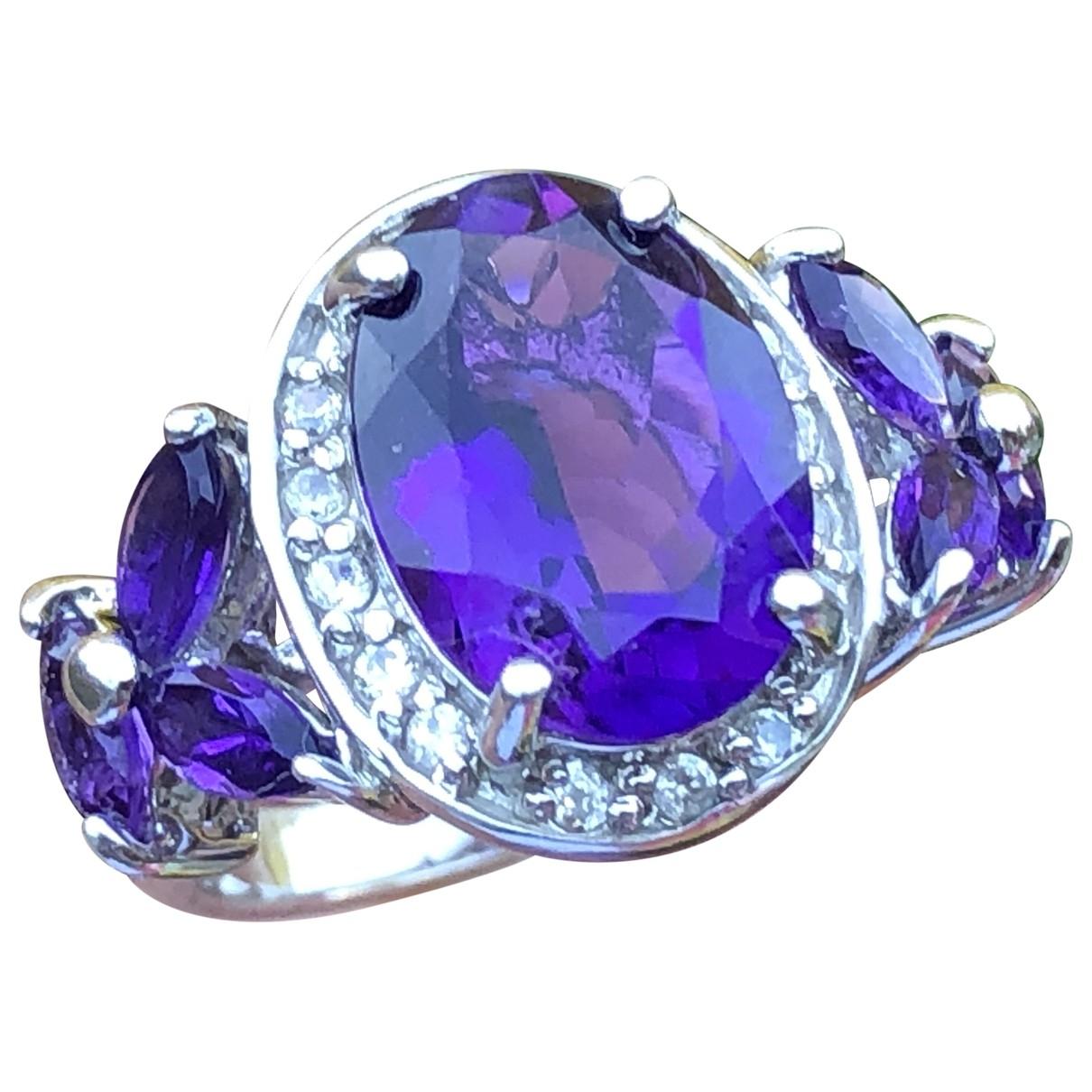 - Bague Amethyste pour femme en vermeil - violet
