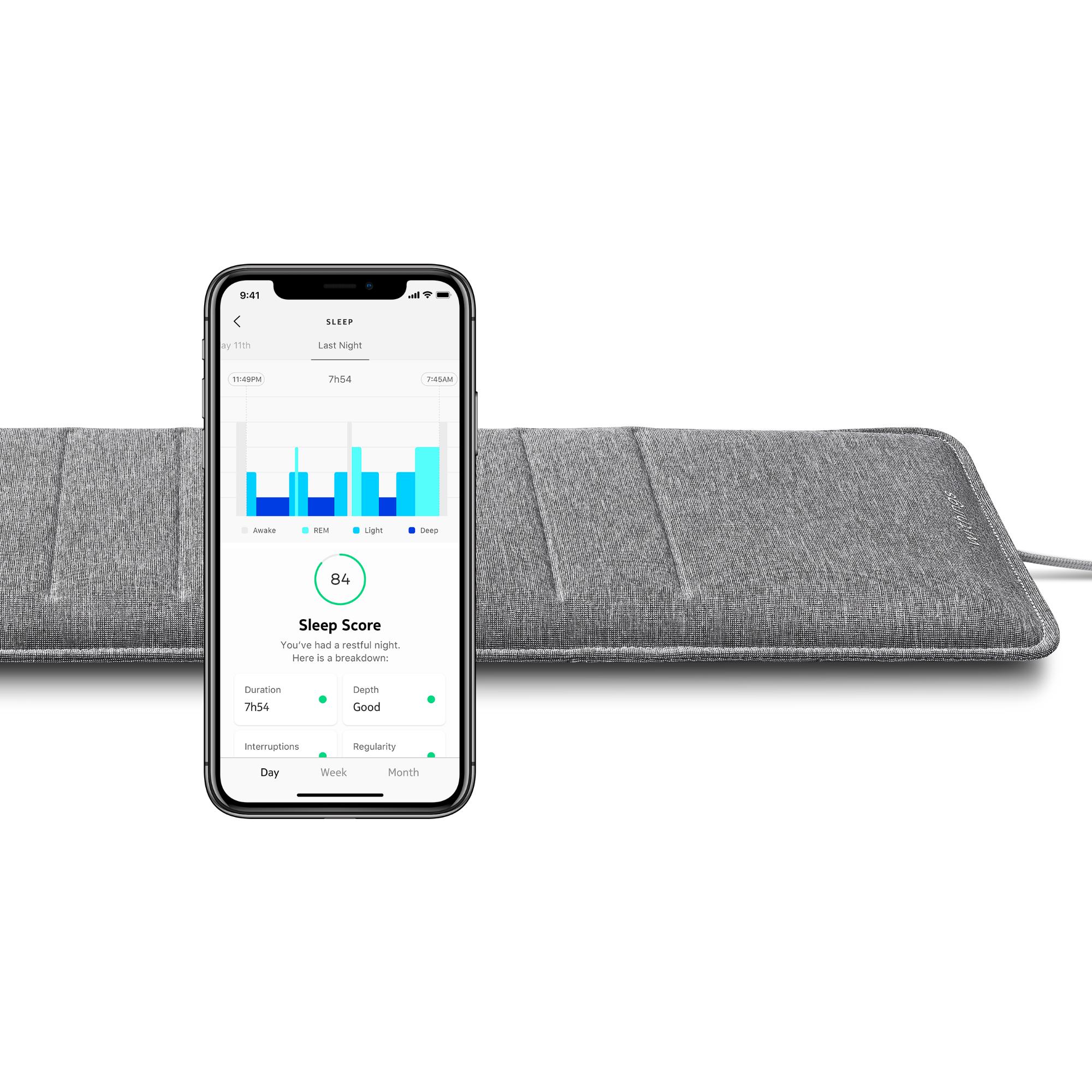 Withings Sleep Analyzer (Nokia) - Capteur de sommeil - Apnee du sommeil - Analyse des cycles de sommeil, Scenarios domotique - Boutique Officielle Wit