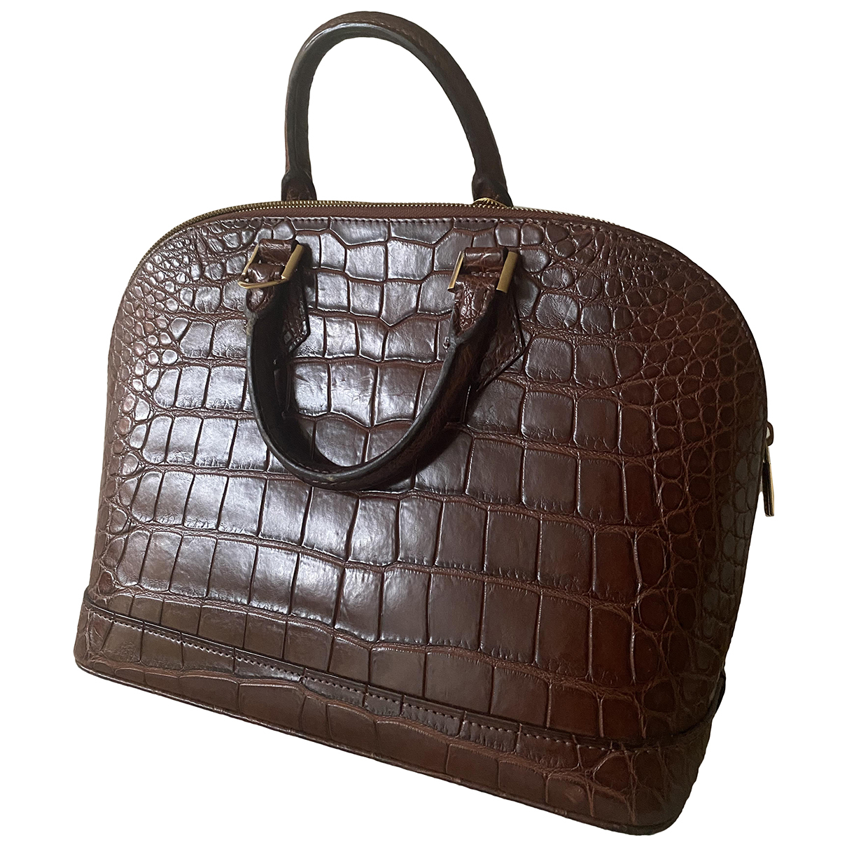 Louis Vuitton Alma Brown Crocodile handbag for Women N