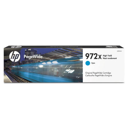 HP 972X L0R98AN Original Cyan PageWide Ink Cartridge High Yield