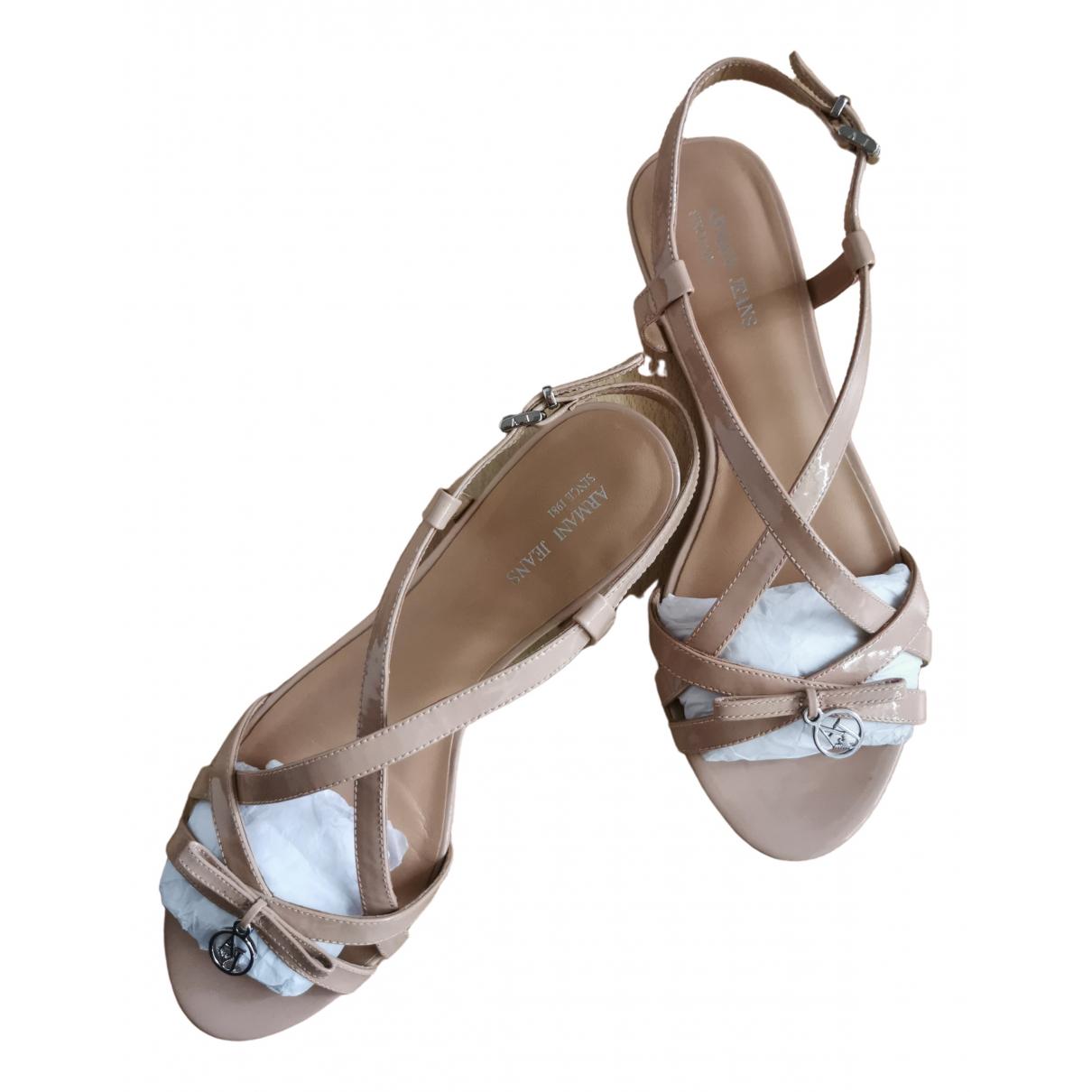 Sandalias de Charol Armani Jeans