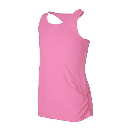 New Balance Little Girls Round Neck Moisture Wicking Tank Top, 5 , Pink
