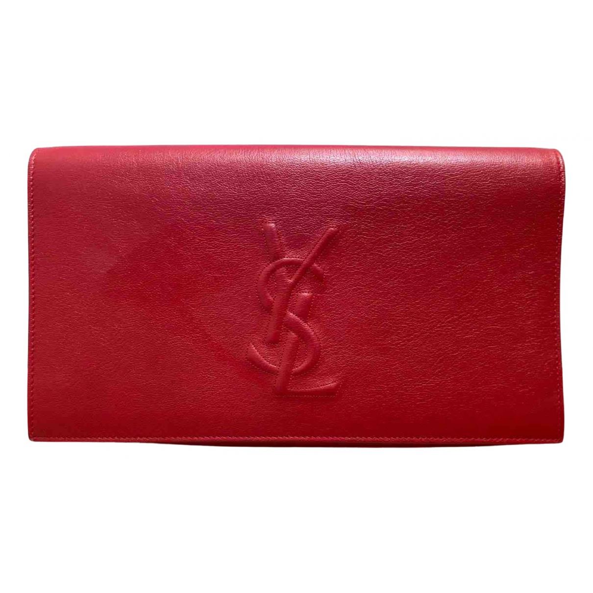 Yves Saint Laurent Belle de Jour Red Leather Clutch bag for Women N