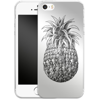 Apple iPhone SE Silikon Handyhuelle - Ornate Pineapple von BIOWORKZ