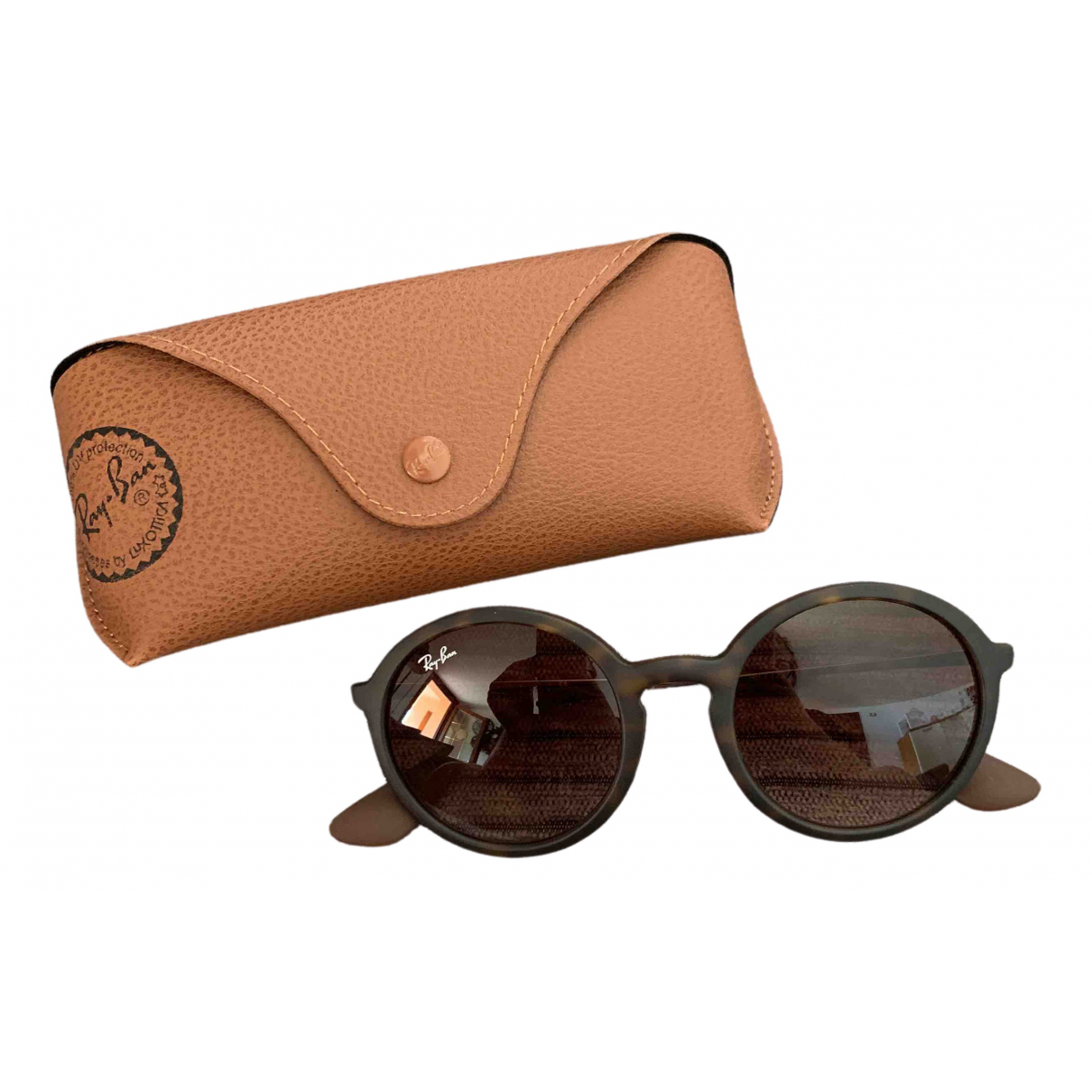 Ray-ban Round Brown Sunglasses for Women \N