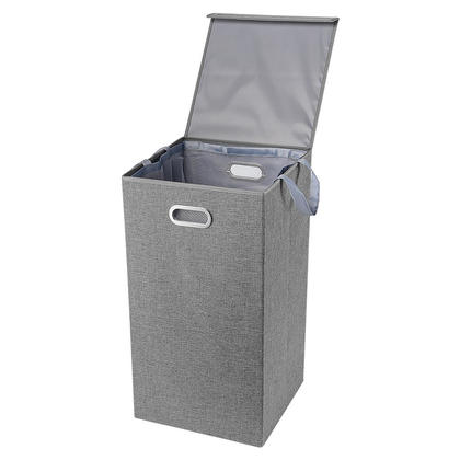 Foldable Laundry Bin, Single Laundry Hamper with Magnetic Lid and Removable Liners - SortWise™