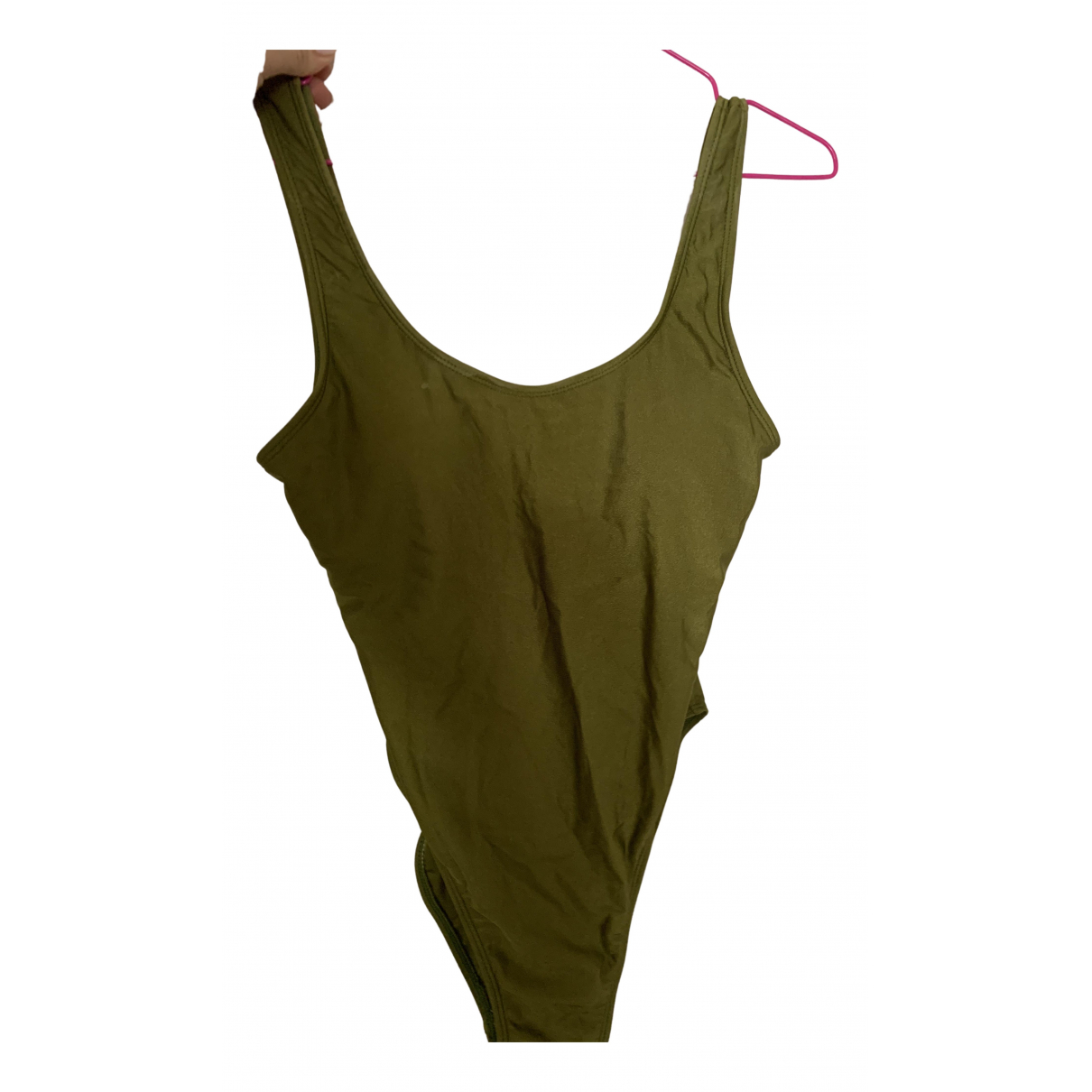 Non Signé / Unsigned \N Khaki Cotton - elasthane Swimwear for Women M International