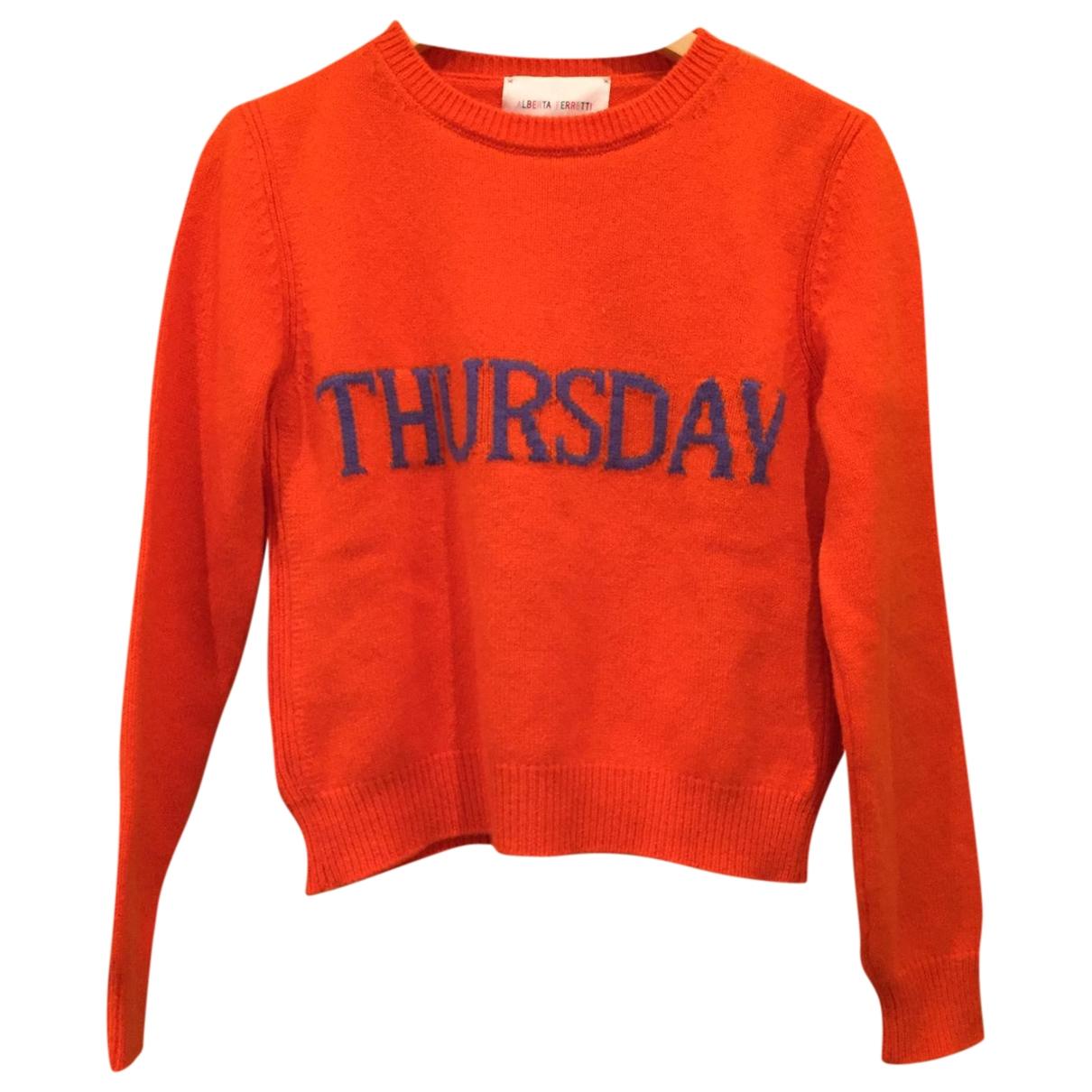 Alberta Ferretti \N Orange Wool Knitwear for Women 44 IT