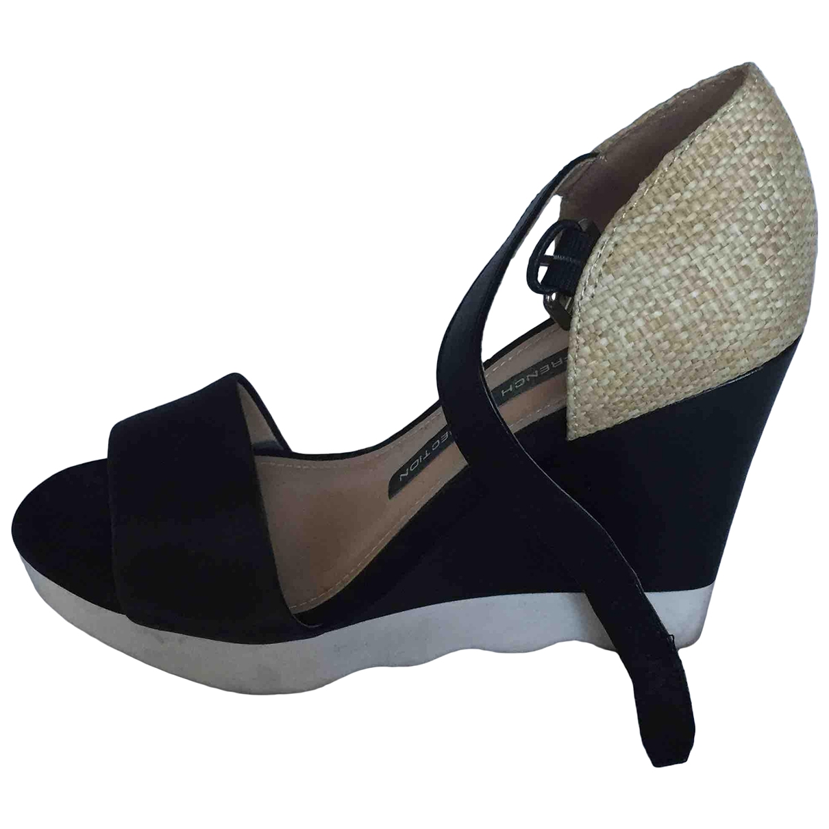 French Connection \N Black Leather Sandals for Women 3 UK