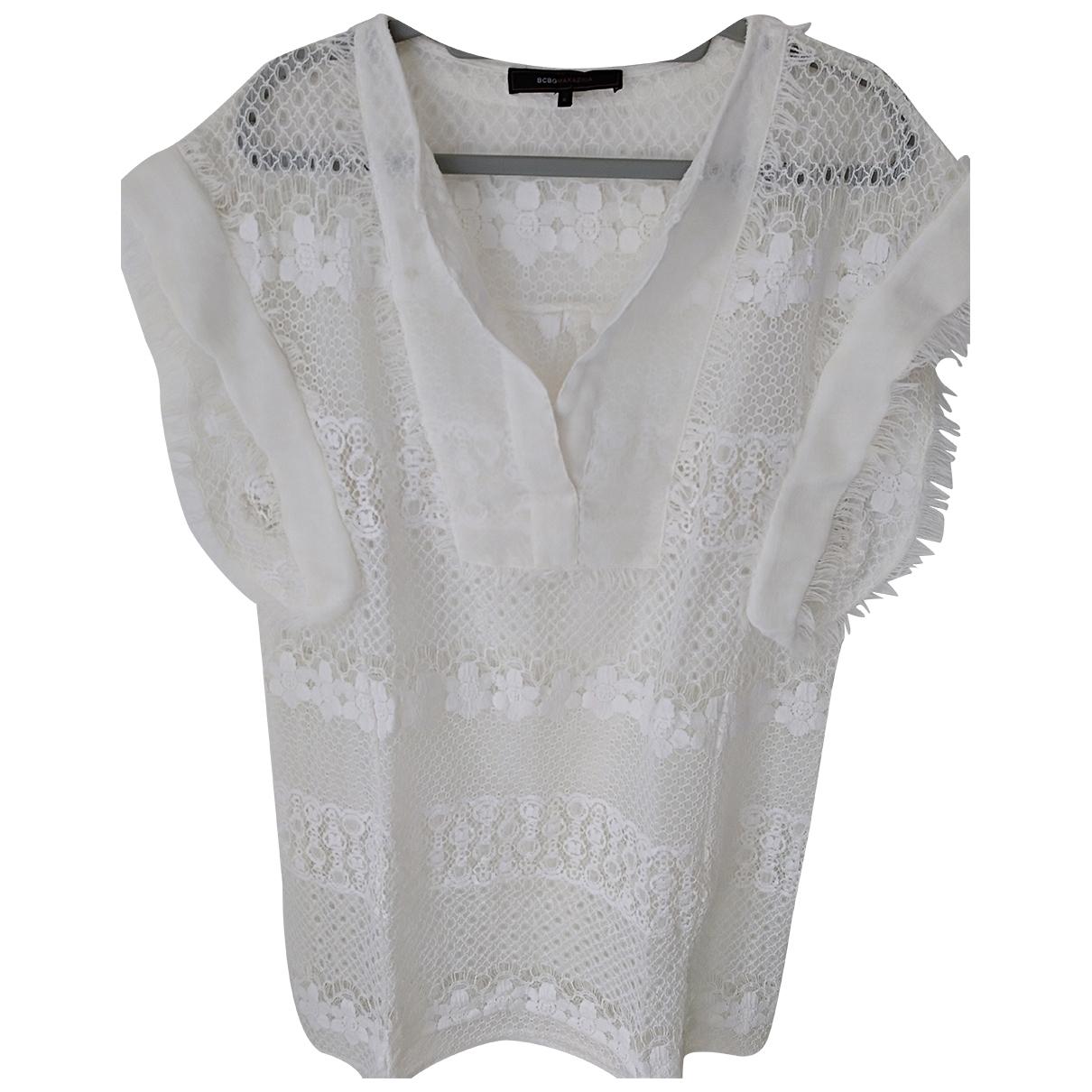 Bcbg Max Azria \N Kleid in  Weiss Polyester