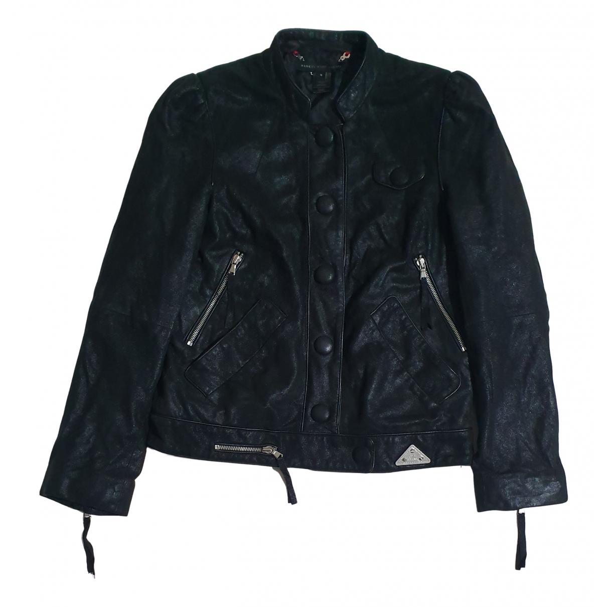 Marc By Marc Jacobs - Veste   pour femme en cuir - noir