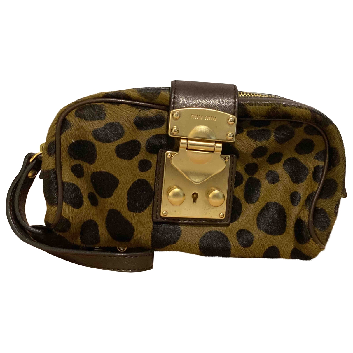 Miu Miu \N Brown Pony-style calfskin Clutch bag for Women \N