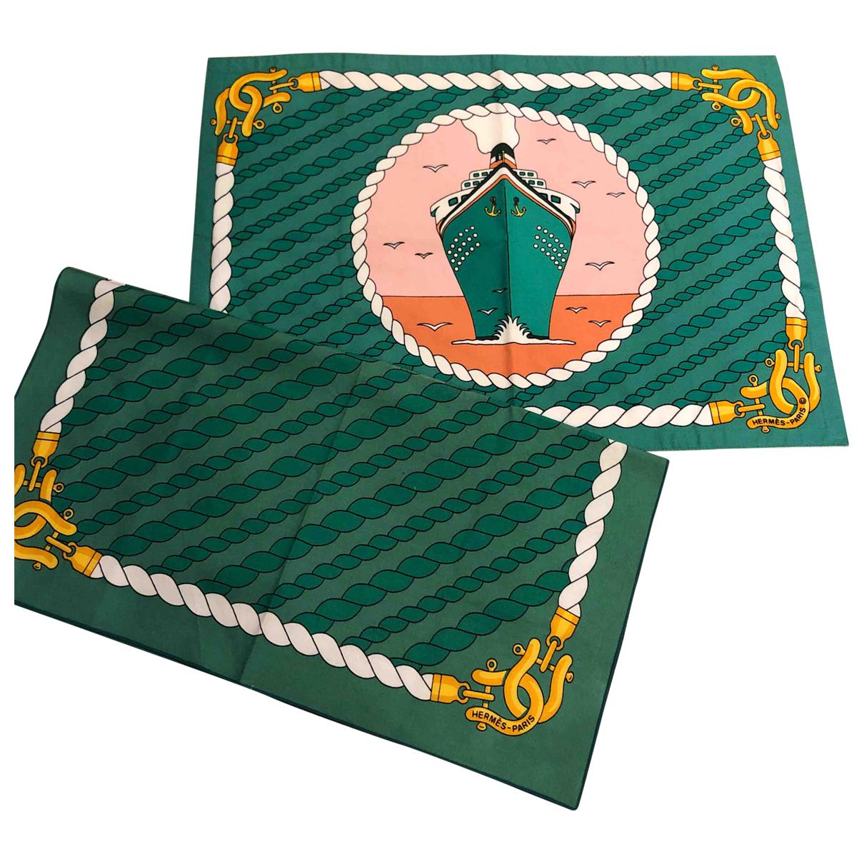 Hermes - Arts de la table   pour lifestyle en coton - vert
