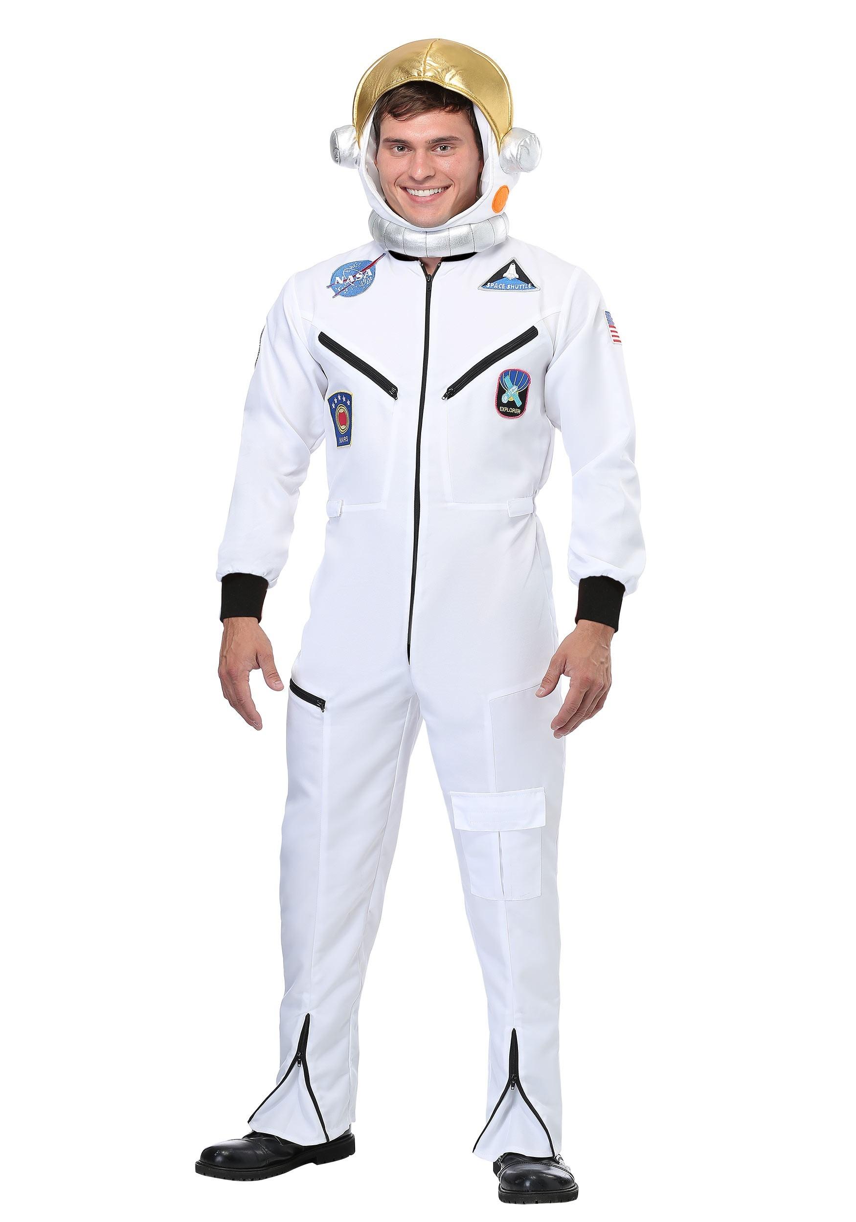 White Astronaut Jumpsuit Adult Costume | Exclusive