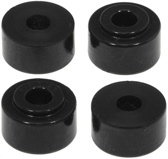 Prothane 19-921-BL Universal Shock Bushings - Stem Type - Small Nipple - Black