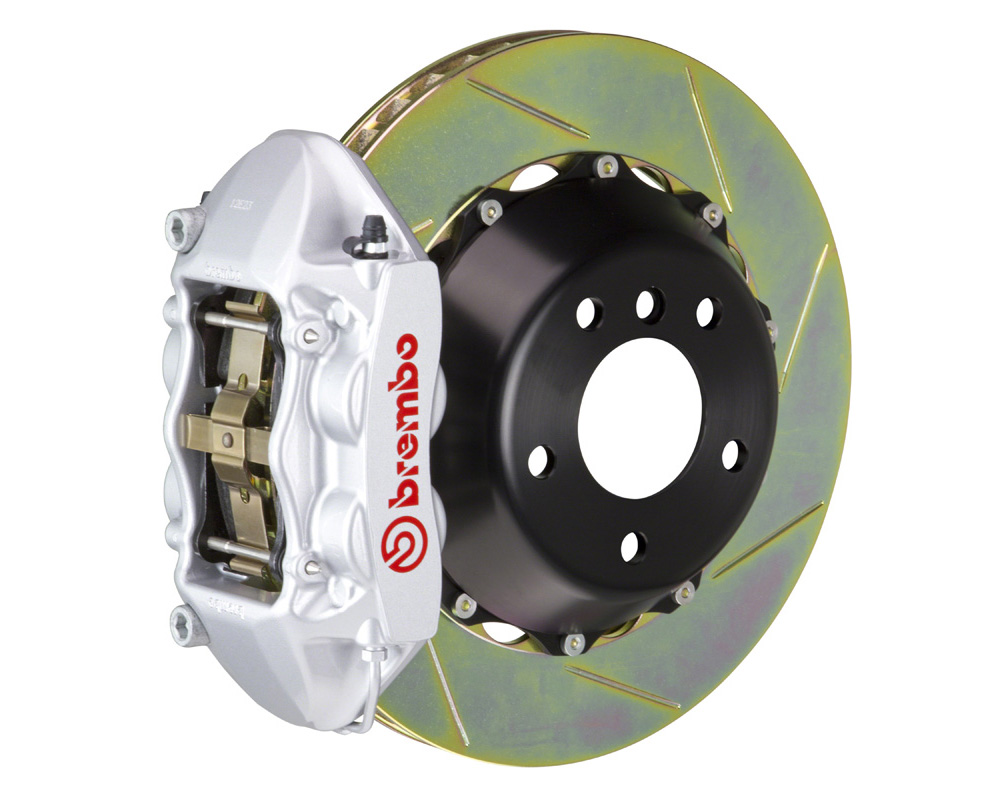 Brembo GT 380x28 2-Piece 4 Piston Silver Slotted Rear Big Brake Kit