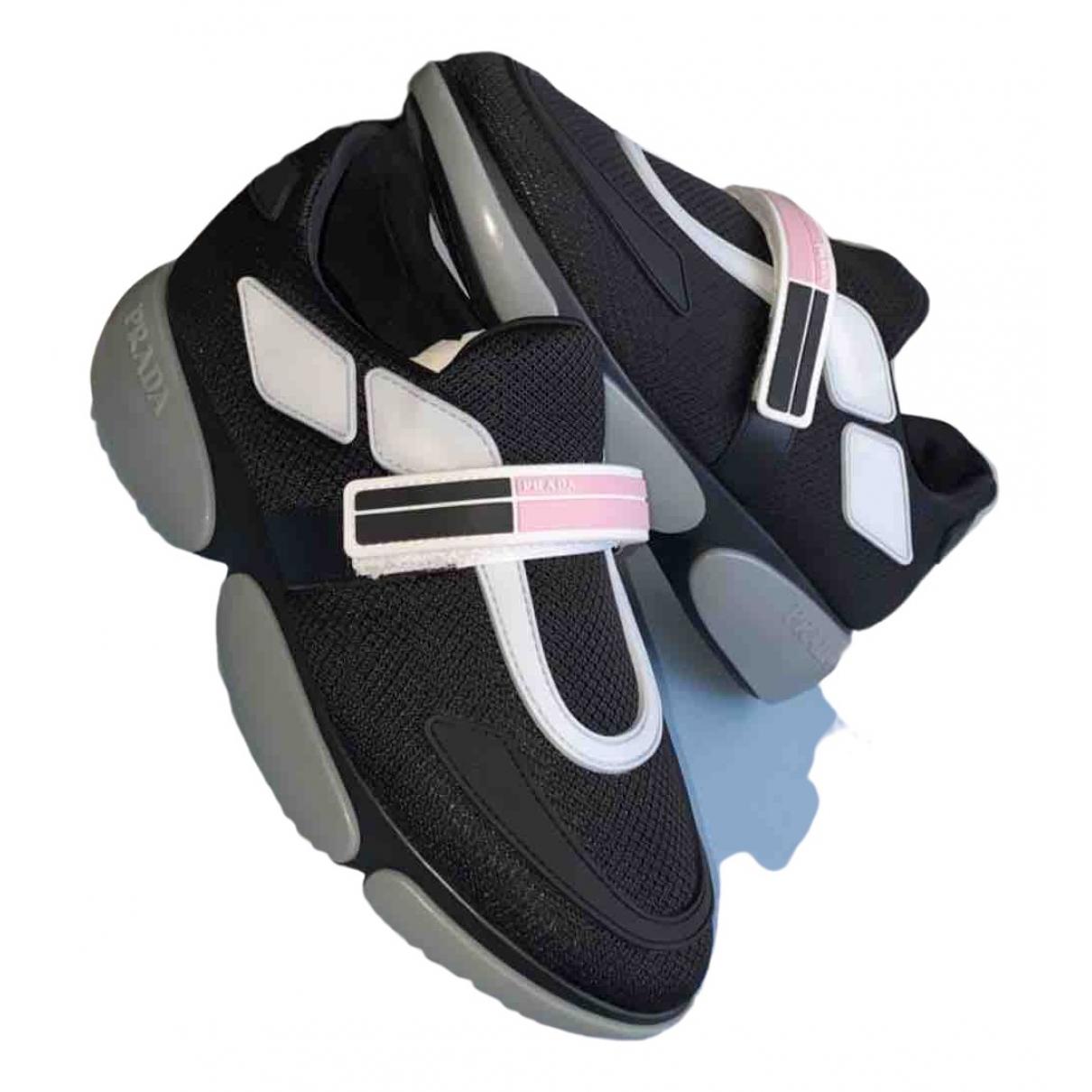 Prada - Baskets Cloudbust pour femme en toile - noir