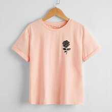 Tops de niños Floral Bebe Rosa Casual