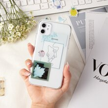 Abstract Print Clear iPhone Case