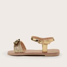 Toddler Girls Glitter Decor Ankle Strap Sandals