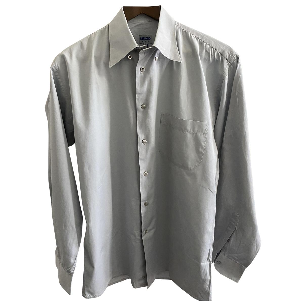 Kenzo - Chemises   pour homme en coton - gris