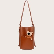 Minimalist Shoulder Bag With Inner Pouch
