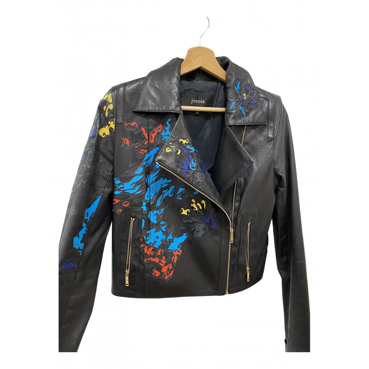 Jitrois - Veste   pour femme en cuir - noir