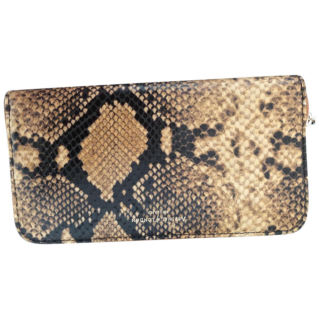 Aspinal Of London - Portefeuille   pour femme en cuir - multicolore