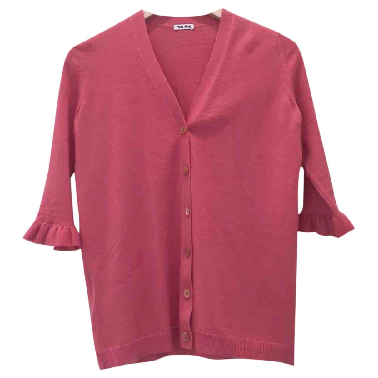 Miu Miu - Pull   pour femme en laine - rose