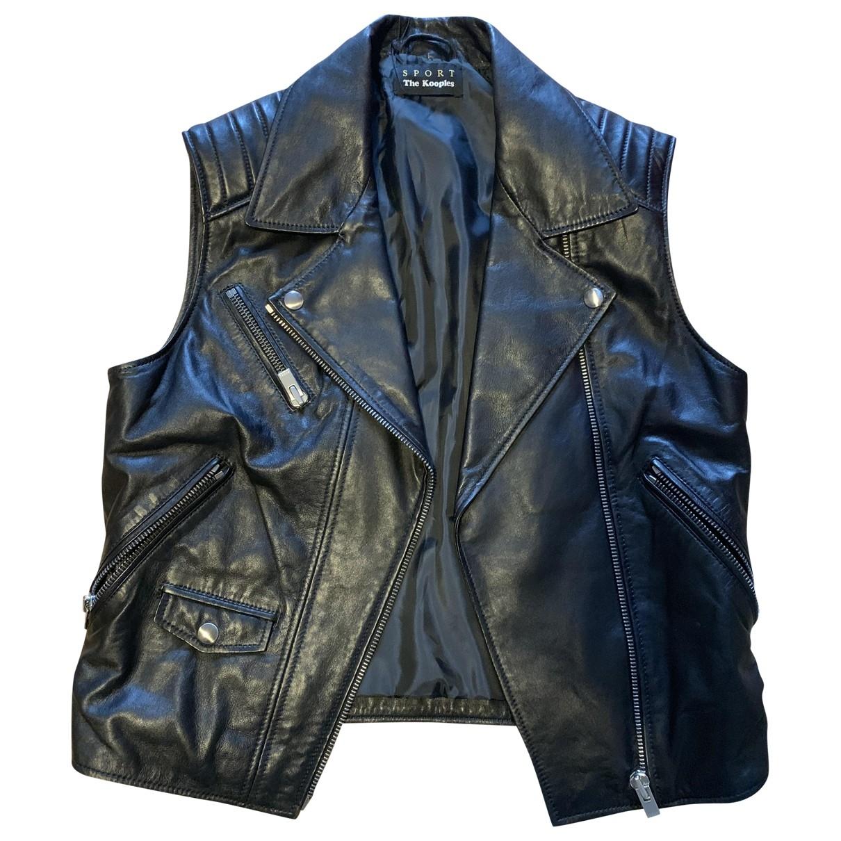 The Kooples \N Black Leather jacket for Women 38 FR