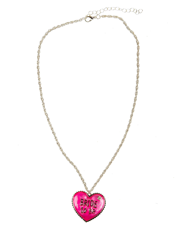 Kostuemzubehor Halskette Bride To Be pink