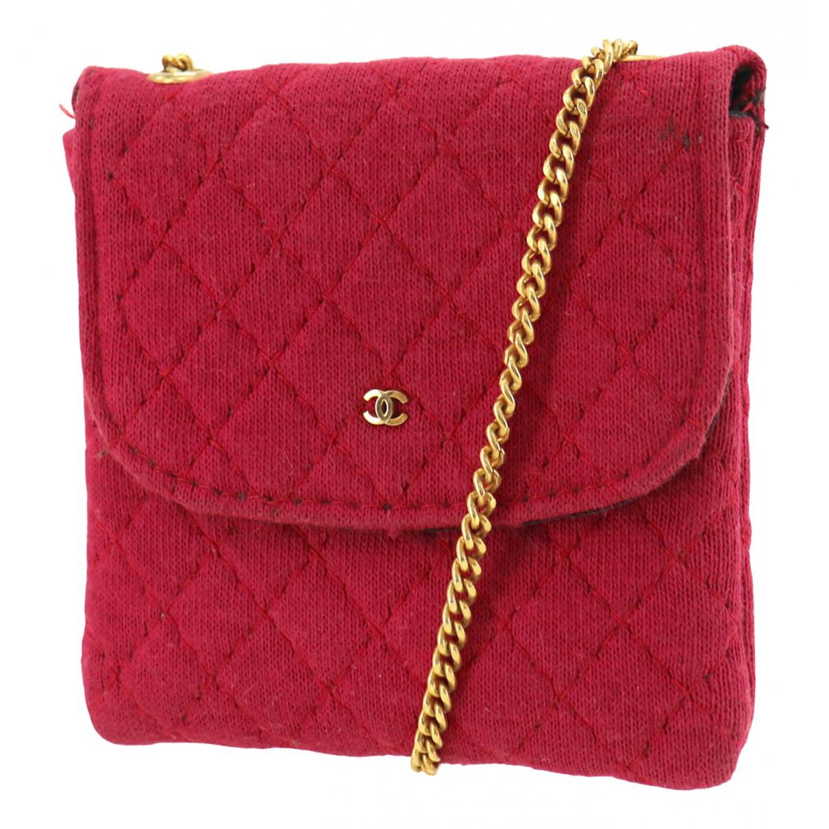 Chanel - Petite maroquinerie   pour femme en coton - rouge
