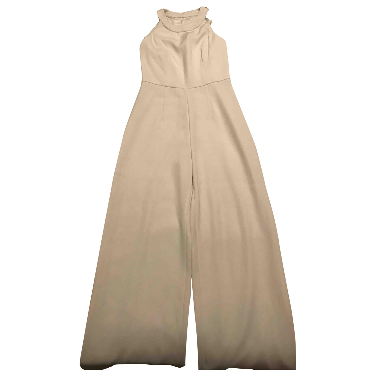 Non Signe / Unsigned \N Jumpsuit in  Weiss Synthetik