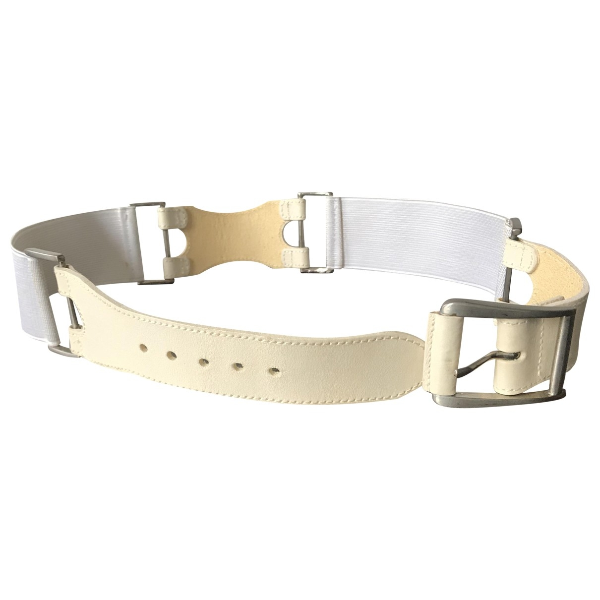 Schumacher \N White Leather belt for Women 80 cm