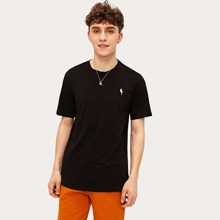 Guys Lightning Embroidered Tunic Tee