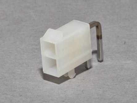 Molex MiniFit Jr RA DR /Pegs 15Au V2 2Ckt Tray (2280)