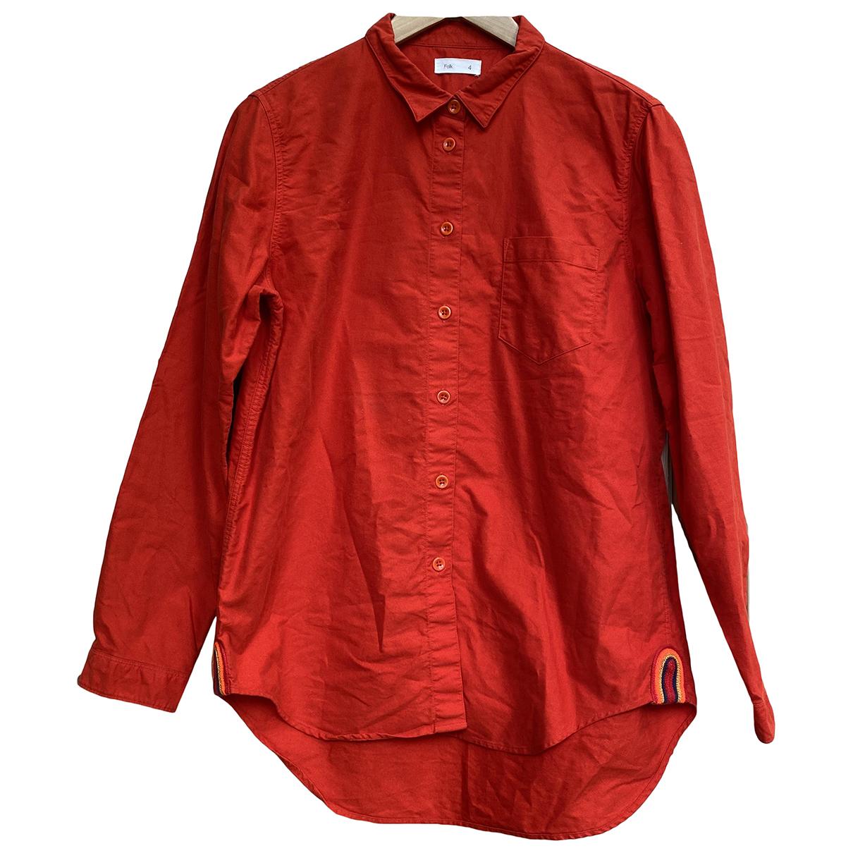 Folk \N Hemden in  Rot Baumwolle