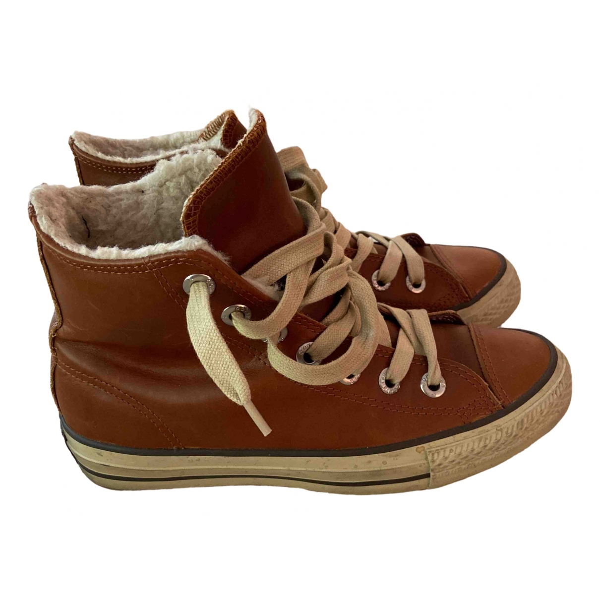 Converse \N Camel Leather Trainers for Women 39 EU